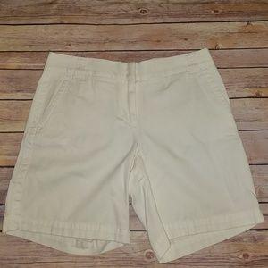 J Crew White Chino Shorts  Size 4